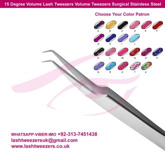 15 Degree Volume Lash Tweezers Volume Tweezers Surgical Stainless Steel