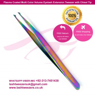 Plasma-Coated-Multi-Color-Volume-Eyelash-Extension-Tweezers-with-Chisel-Tip