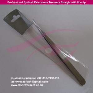 Professional Eyelash Extensions Tweezers Straight with fine tip