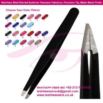 Stainless-Steel-Slanted-Eyebrow-Tweezers-Fabulous-Precision-Tip-Matte-Black-Finish