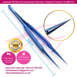 Japanese SS New Arrivals Eyelash Extension Tweezers Precision Tip With Pin