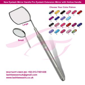 New Eyelash Mirror Handle Pro Eyelash Extension Mirror with Hollow Handle