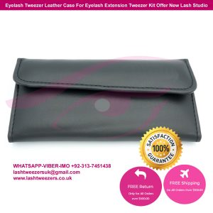 Eyelash Tweezer Leather Case For Eyelash Extension Tweezer Kit Offer New Lash Studio