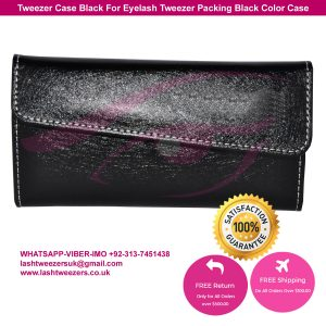 Tweezer Case Black For Eyelash Tweezer Packing Black Color Case