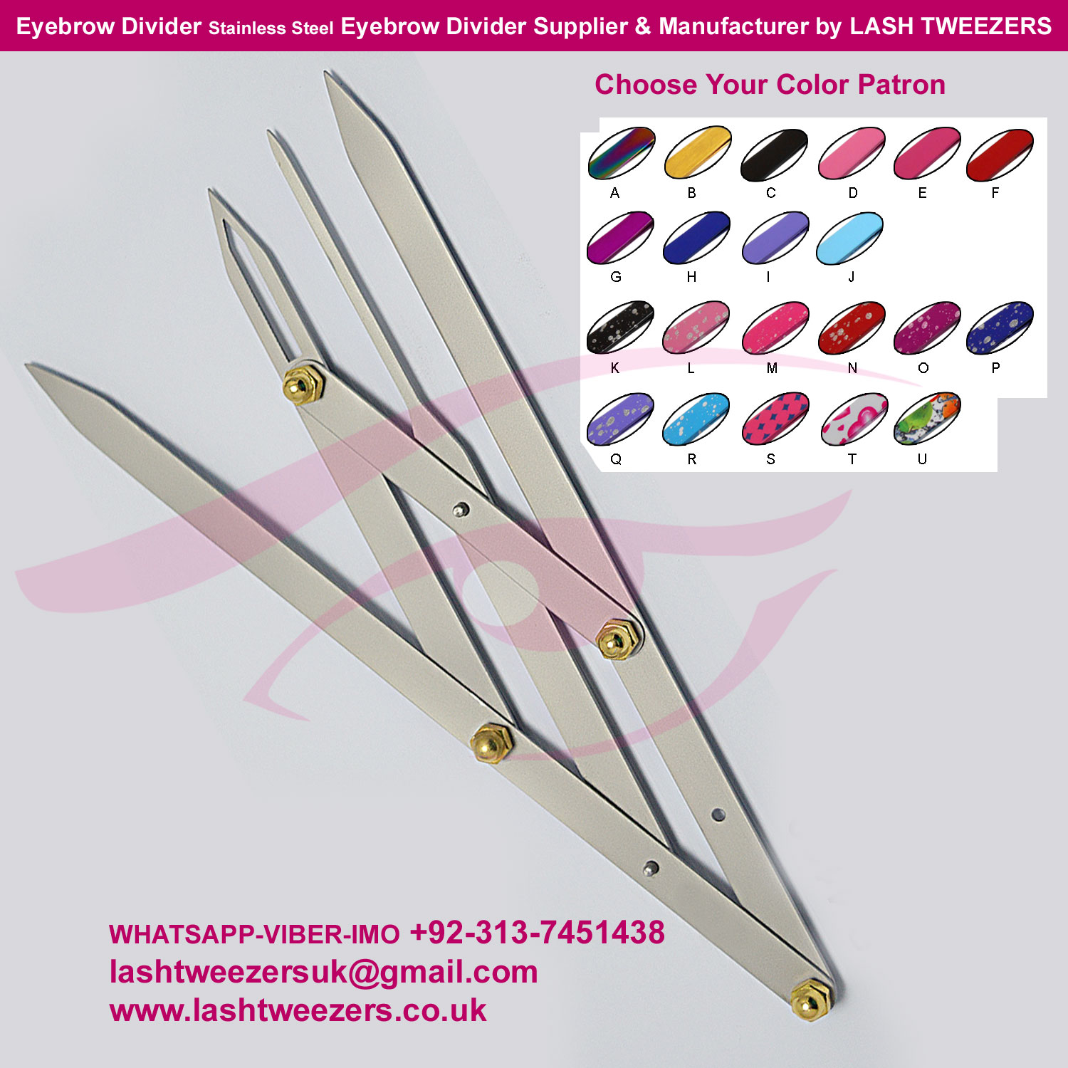 Eyebrow Divider Stainless Steel Eyebrow Divider Supplier & Manufacturer by LASH TWEEZERS